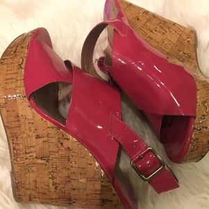 BCBGeneration Shoes - BCBG Pink Patent Leather Heels